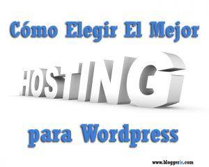 elegir el mejor hosting para Wordpress