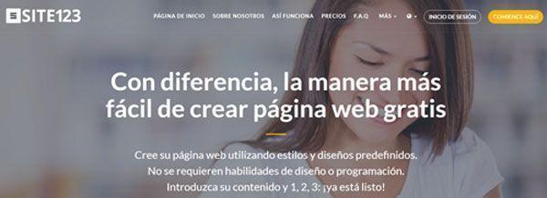hacer un blog gratis site123