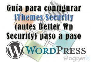 guia configurar el plugin ithemes security
