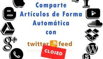 twitterfeed cierra