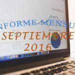 Informe Mensual: Estadísticas de Septiembre 2016
