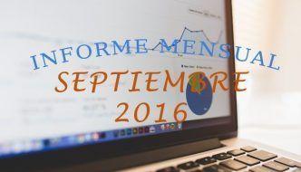 informe mensual del blog Septiembre 2016