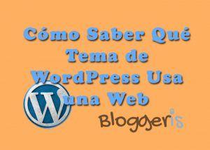 Cómo saber qué tema usa una web de wordpress