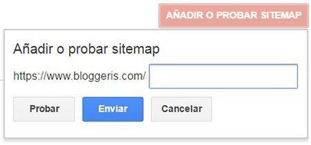 añadir sitemap a google