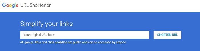 acortar url con google shortener
