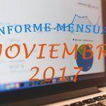 ¡Superando la barrera de las 30.000 visitas! – Informe Mensual Noviembre 2017