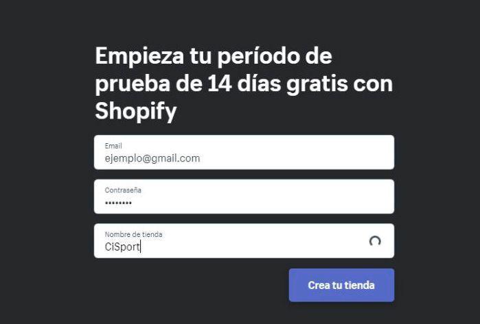 Periodo de prueba shopify