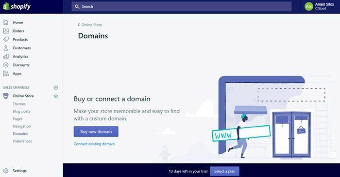 domains dominios shopify