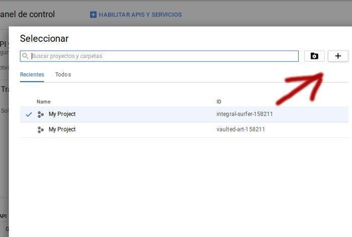 crear nuevo proyecto Google Cloud