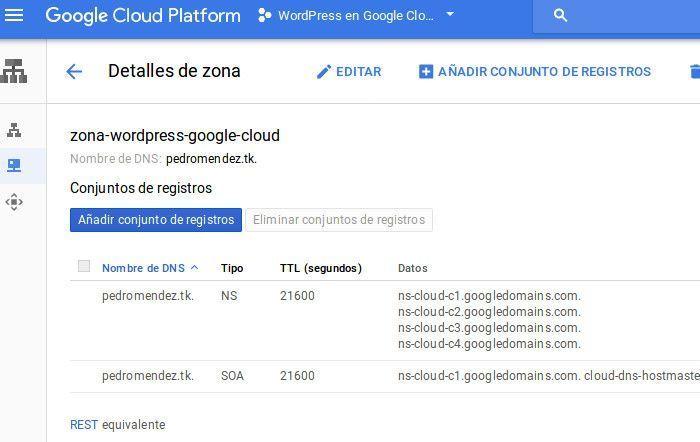 detalles de zona google cloud platform
