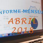¡Superadas las 60000 visitas! – Informe Mensual Abril 2018