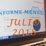 Manteniendo la línea – Informe Mensual Julio 2018