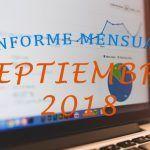 ¡Superando las 80000 visitas! (+ Ingresos) – Informe mensual Septiembre 2018