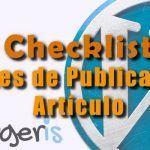 8 Cosas que debes comprobar antes de publicar un artículo en WordPress
